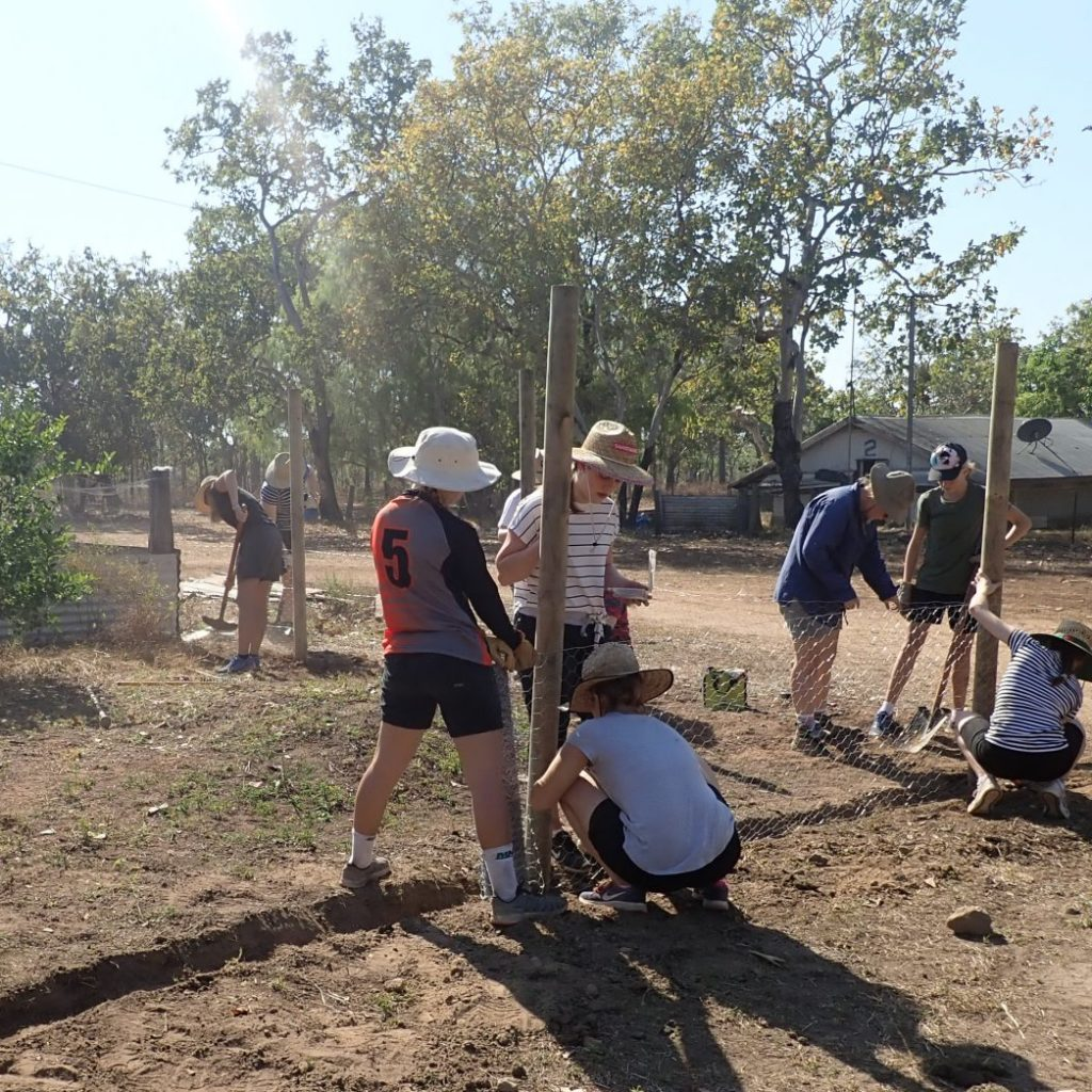 St Rita's students contributing to service project in Arnhem Land on Red Earth Indigenous Service Learning Immersion